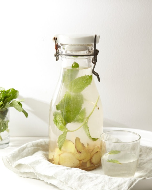 flavored-water-recipes-best--ginger-mint